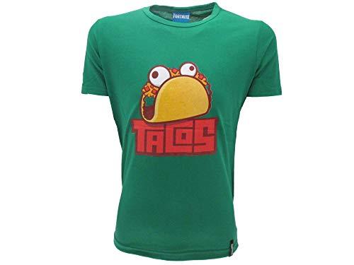 Epic Games T-Shirt Original Fortnite Kinder Jungen Tacos Trikot Grün T-Shirt, Grün 11-12 Jahre