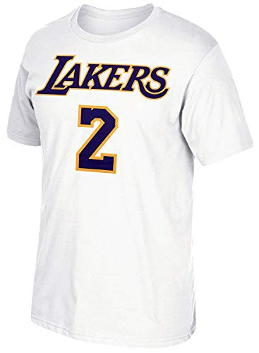 adidas Lonzo Ball Los Angeles Lakers White Name and Number T-Shirt XX-Large