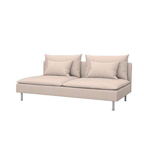 Soferia - IKEA SÖDERHAMN Funda para sofá Cama, Eco Leather Beige