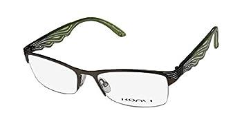 Koali By Morel 6939k Womens/Ladies Designer Half-rim Gorgeous Unique Design Eyeglasses/Spectacles  51-17-135 Khaki/Green / Clear