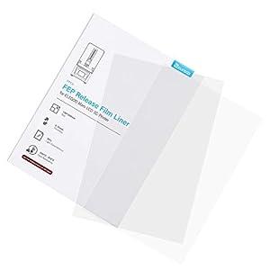 ELEGOO 5PCS FEP Release Film for ELEGOO MARS LCD 3D Printer 140 * 200 MM 0.15mm Thickness