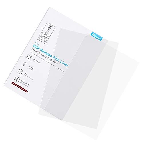 ELEGOO 5PCS Película FEP para ELEGOO MARS Anycubic Photon LCD Impresora 3D 140 * 200 MM 0.15mm Espesor