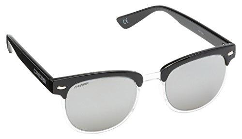 Cressi Panama Sonnenbrille, Schwarz/Hellgrau Linses, One Size
