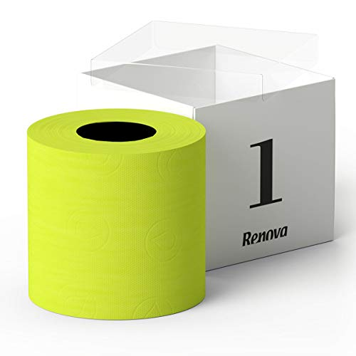 Luxury Scented Colored Toilet Paper Gift Box 1 Roll 3-Ply Bath Tissue (Lime Green)
