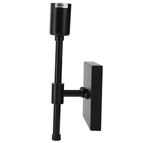 Lámpara de pared de hierro forjado con luz frontal con espejo E26 para tocador de baño junto a la cama, 21.6 oz, negro