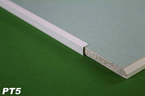 20 Meter | U-Profile | Einfassprofile | PVC | stoßfest | resistent | Lemal | 12,5 mm | weiß | PT5