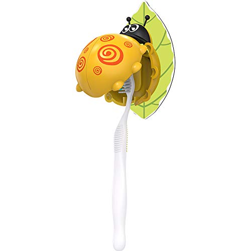 Heasa Toothbrush Holder Cartoon Toothbrush Holder for Kids (Yellow Ladybug)