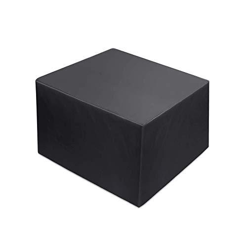 Landrip Abdeckung für Gartenmöbel, Abdeckplane Gartenmöbel Wasserdicht Anti-UV, 420D Oxford Schutzhülle Quadratisch für Gartenmöbel Gartentische Sitzgarnituren Möbelsets –125x125x74CM