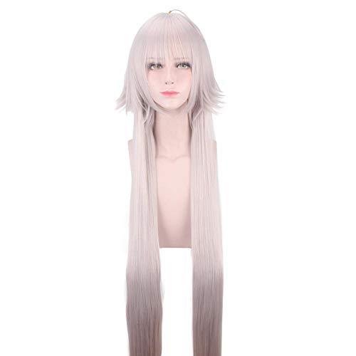 PANQQ Fate Grand Order Jeanne d'Arc Alter peluca larga para mujer disfraz de Cosplay Fate Go Joan of Arc pelucas de pelo sintético resistentes al calor