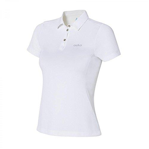Odlo Tina Polo Femme, Blanc, FR : S (Taille Fabricant : S)