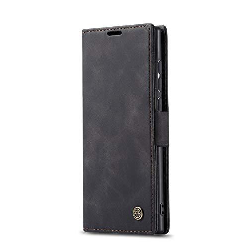 JMstore hülle kompatibel mit Samsung Galaxy Note10 Lite/M60s/A81, Leder Flip Schutzhülle Brieftasche Handyhülle mit Kreditkarten Standfunktion (Schwarz)
