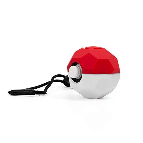 CHIN FAI Estuche de Agarre de Silicona para el Controlador Pokeball Plus, Cubierta Protectora con Barras de Control para el Nintendo Switch Pokemon Lets Go Pikachu Eevee Games Pack de 3