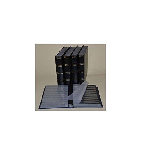 Goldhahn Briefmarkenalbum, Einsteckbuch, Einsteckalbum, 60 Schwarze Seiten, schwarzer Einband -5er Karton Briefmarken für Sammler