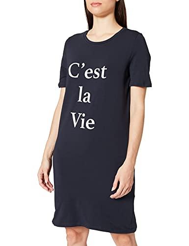 Amazon-Marke: Iris & Lilly Damen Kurzärmeliges Nachthemd aus Jersey, Blau (Night Sky), L, Label: L
