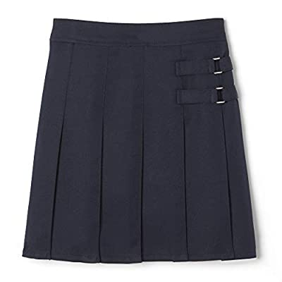French Toast Big Girls' Two-Tab Pleated Scooter, Navy, 16