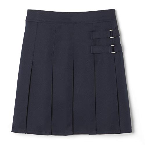 French Toast Little Girls' Two-tab Pleated Scooter, Navy, 6