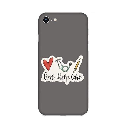 Funda iPhone 6 Plus Carcasa Compatible con Apple iPhone 6 Plus Me Encanta la Medicina El Amor Ayuda a Curar/Imprimir también en los Lados. / Teléfono Hard Snap en Antideslizante Antideslizante Ant