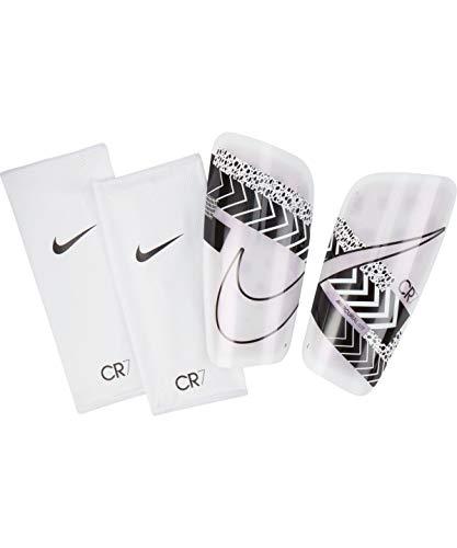 Nike Unisex– Erwachsene Cr7 MERC Lt Grd-Ho20 Schienbeinschoner, White/Black/Iridescent, XL