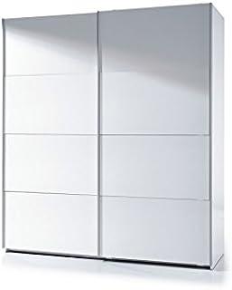 Habitdesign ARC180BO - Armario Dos Puertas correderas, Armario Dormitorio Acabado en Color Blanco Brillo, Medidas: 180 (Ancho) x 200 (Alto) x 63 cm (Fondo)