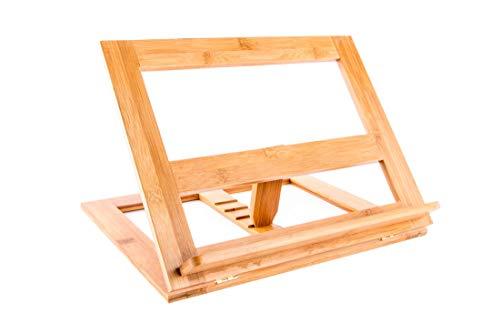 Atril de lectura ajustable madera bambu natural 33x26x22 cm ⭐