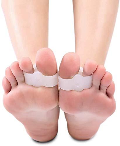 Corrector del dedo del pie De los hijos adultos de hallux valgus ortesis, doble anillo divisor, la superposición de los separadores de dedos, hallux valgus, gel de silicona, día y noche usada for aliv