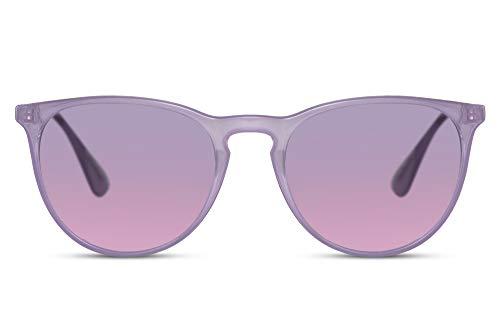 Cheapass Gafas de Sol Brillante Moradas Transparente Montura Ligeras Moradas a Rosa Cristales Graduales Vintage UV400 protegidas Mujeres