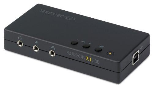 TERRATEC AUREON USB 7.1 PC Soundkarte extern 8-Kanal USB Soundbox – optischer Ein-Ausgang für AC3 und DTS - für bis zu 8 Lautsprecher - analoge und Digitale Audiogeräte