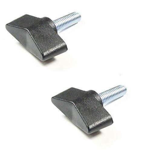 2 tornillos de mariposa con perno roscado M4 M5 M6 plástico acero mango en T tornillo 4 mm 5 mm 6 mm tuercas universales negro