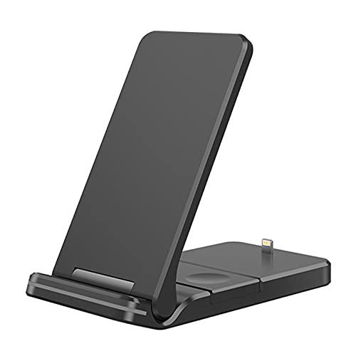 WERYU Cargador Inalámbrico, Carga Inalámbrica Rápida De 15 W con Certificación Qi, Compatible con iPhone 12 SE 11 11 Pro 11 Pro MAX XS MAX XR, Compatible con AirPods Pro con Adaptador