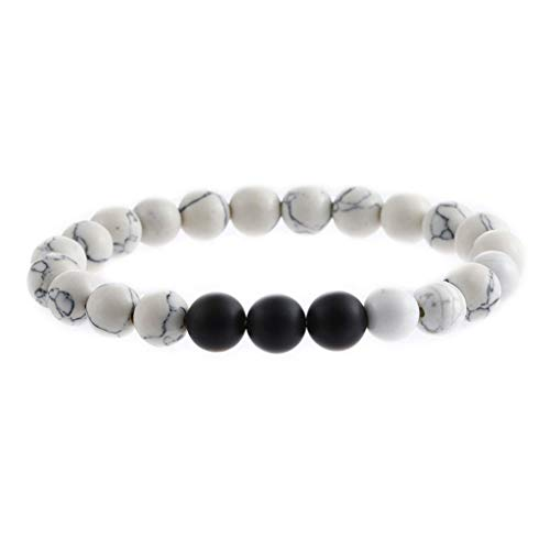 UINGKID Damen-Armband Charm Kreative Stilvolle Männer Frauen 8mm Lava Rock Chakra Perlen elastische Naturstein Achat