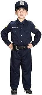 Jr Police Officer Kids Costume - Large