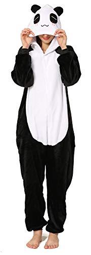 Yimidear® Unisexe Hot Adulte Pyjamas Cosplay Costume d'animal Onesie de nuit de nuit ,S,Blanc-Giant Panda