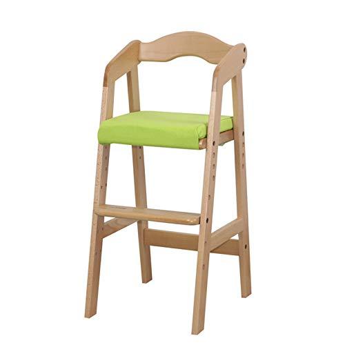Esszimmerstuhl für Kinder, aus Massivholz, höhenverstellbar, Baby-Esstisch, Hochstuhl, Lernsitz, Korrektursitz, Größe M