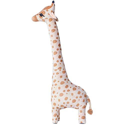 Sally Stella Muñeca de jirafa de felpa gigante, lindo animal de peluche suave juguetes para niños, muñeca de ciervo animal regalo de cumpleaños para espacios de juego, decoración del hogar
