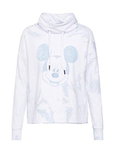 FROGBOX Damen Sweatshirt Dip dye Sweaty with Mickey weiß S