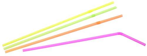 FACKELMANN Knicktrinkhalme, Kunststoff, Mehrfarbig, 24 x 0.5 x 0.5 cm, 300-Einheiten