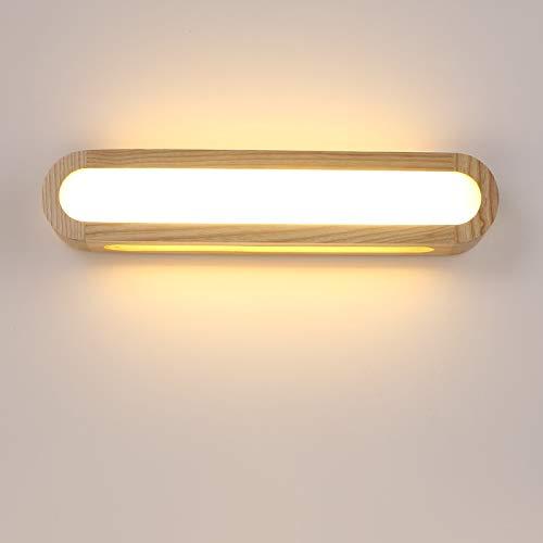 RAQ Creatieve slaapkamer houten wandlamp 12w 110-240V Foyer studie achtergrond lamp badkamer LED spiegellamp 43cm Cool white(5500-7000K).