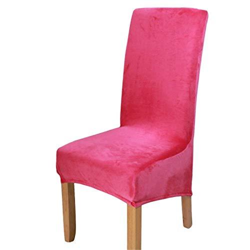 BANGSUN - Coprisedie in velluto elasticizzato per sedie rimovibili, in velluto, 4 pezzi, colore: Rosa