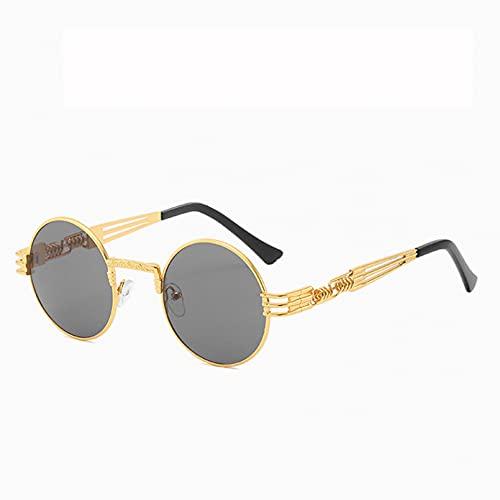 Q4S Gafas De Sol Redondas Steampunk Hombres Mujeres Gafas De Metal De Moda Diseño De Marca Gafas De Sol Vintage Uv400