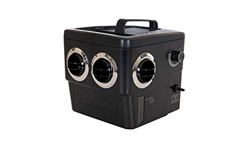 Transcool Neues Model, E3-SCHWARZ oder Weiss, 1,5 KG Leichter Luftkühler Verdunstungskühler Klimagerät Wohnwagen Caravan Wohnmobil Camping Boot Reisemobil (SCHWARZ)