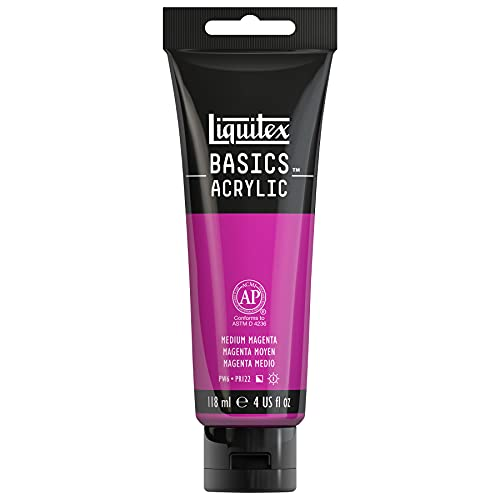 Liquitex BASICS Acrylic Paint, 4-oz tube, Medium Magenta