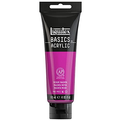 Liquitex 1046500 BASICS Acrylic Paint, 4-oz tube, Medium Magenta