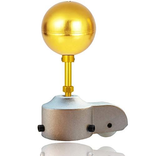 EKEV Flagpole Truck Pulley and Gold Anodized Top Ball Ornament Topper Set - Fit for Most Standard US Flag Poles (2.5' Truck & 3' Gold Ball)