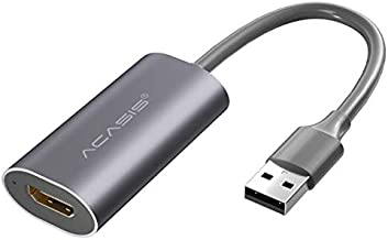 New Acasis 4K HDMI Video Capture Card USB 3.0 HD Recorder for Game Video Live Streaming Compatible for PS4 Xbox PC Swich M...