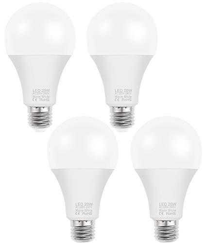 Bombillas de Tornillo E14 / E27EDISON, Bombillas de 5W LED, lámpara incandescente 80W Equivalente, no regenerable, Bombillas de Ahorro de energía para cocinas, Salas de Estar, 4 Pack,E27 Warm,3W