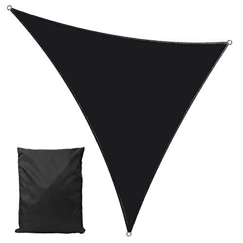 Yissone - Sombrilla impermeable con bloqueador UV, forma triangular para patio al aire libre y jardín