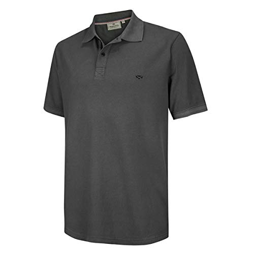 Hoggs of Fife Anstruther Washed Polo - Navy