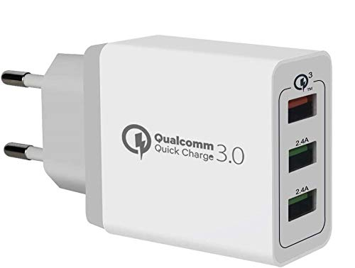 Quick Charge 3.0 Cargador USB de Pared con 30W Qualcomm QC 3.0 Carga Rapida por Sky Castle Para teléfonos inteligentes Samsung Galaxy S8 / S7 / S6 / Note, iPhone, ipad y más