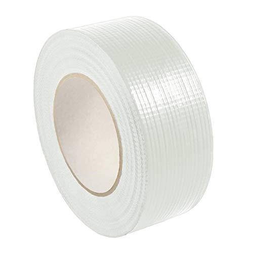 Gewebeklebeband stark klebend | Gewebeband aus PE | Handreißbar | Weiß, Schwarz oder Silber | 50 m | Breite wählbar | Panzertape/weiß 30 mm x 50 m