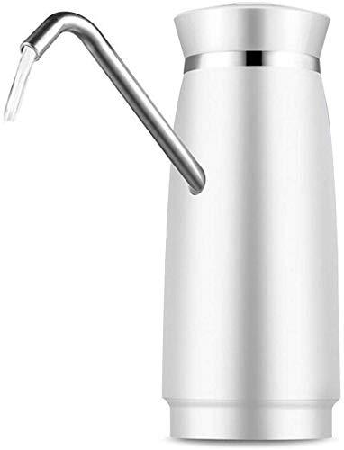 FEE-ZC Distributeur automatique de Pompe électrique Pour bouteille D'eau Potable Avec chargeur USB de Noël (convient à la plupart des bouteilles de 2-5/6 gallons), Blanc, Blanc